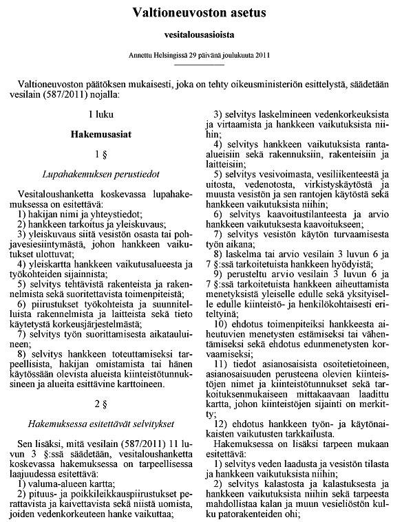 Valtioneuvoston Asetus